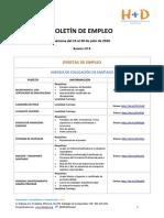 BOLETÍN DE EMPLEO Nº8 - FUNDACIÓN H+D