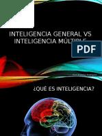 Inteligencia General vs Inteligencia Múltiple