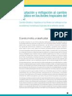Adaptación y Mitigación Al Cambio Climático en Los Andes Tropicales Del Perú