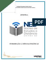Apostila Introdução a Ciências Politicas (Módulos 1 a 6)
