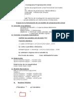 Programación Lineal 1ra Clase 13-06-2016