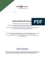 Prelims 2016 - International Groups
