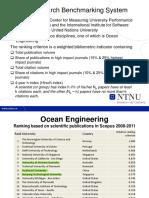 Ranking of Universities in Ocean Engineering