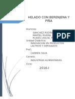 Helado de Berenjena y Piña