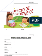 PROYECTO DE APRENDIZAJE  5° OCTUBRE