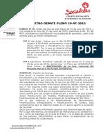 Debate Pleno Ordinario 10-07-2015