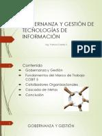 Gobernanza y Gestión de Tecnologías de Información COBIT 5