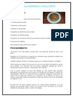 1tortilla Española y Pollo Frito