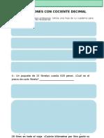 5to Grado - Matemáticas - Divisiones Con Cociente Decimal