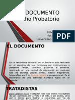 El Documento - Probatorio