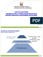 Presentaciones Lineamientos PIP Orientados Mejoramiento Institucional