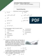 Lista de Exercício - Unidade I