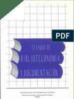 Tesauro de Biblioteconomía y Documentacion