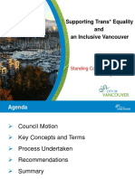 City of Vancouver trans equality presentation
