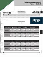 Afiche hoja de respuesta Tipo A Grado 9 2015.pdf