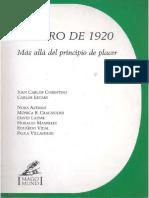 01.- Cosentino, J.C. & Otros. El Giro de 1920. S. Freud. Más Allá Del Ppio Del Placer. 82p