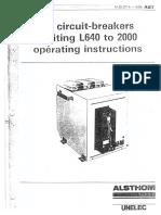 Alsthom Unelec Air Circuit BreakersM-33-277A