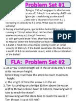 FLA_kinematics Problem Set