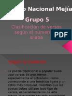 Clasificación de Versos Según El Numero de Silabas