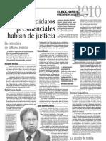 Los Candidatos Hablan de Justicia I