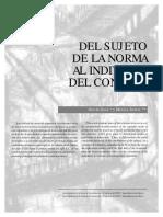 Del Sujeto de La Norma Al Individuo Del Control. Gisela Daza y Monica Zuleta
