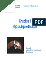 ITC Chapitre 3- Hydraulique Des Sols