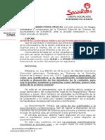 Nuestra Queja a Comision Cuentas 2015