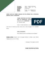 Vario Domicilio Procesal - Ysabel Ale Ponce
