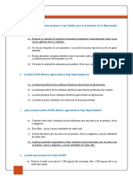 cuestionario HIPERTENSION ARTERIAL