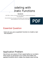 modeling with quadratics