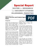 Life in Kurram and Orakzai Agencies