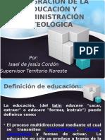 Área de Educación y Administración Teológica