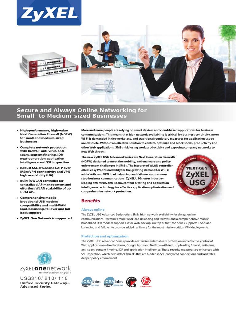 Manual de uso de ZyXEL USG 100 | Virtual Private Network