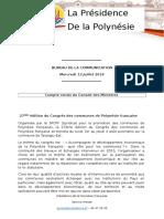 Compte Rendu Du Conseil Des Ministres Du Mercredi 13 Juillet 2016
