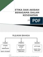 Etika Kesehatan Dalam Islam