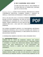 Programa Clausura 2015 2016 Final
