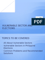 Vulnerable Sector and Elections