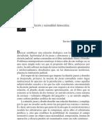Rivera, Jurisdiccion y Racionalidad Democratica