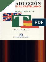 La Traducción Del Inglés Al Castellano, Marina Orellana