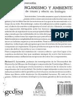 Richard Lewontin, Genes, Organismo y Ambiente (2000)