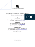 Using Spatial Panel Data in Modelling Regional
