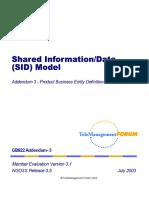 Shared Information Data (SID) Model