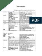 Perl Cheat Sheet