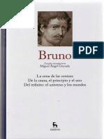 Granada, M.a. - Estudio Introductorio Al Vol. Giordano Bruno de La Colección Grandes Pensadores de Gredos