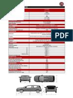 Ficha Técnica y de Equipamiento Fiat Mobi