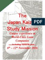 Japan kaizen study mission Nov2016-Incl Toyota Tour