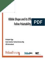 Kibble Shape and Its Effect on Feline Palatability