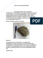Practico Rocas Metamorficas