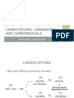 Carbanions Carbocations and Carboradicals