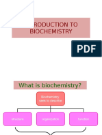 Chapter 1 - Intorduction to Biochemistry